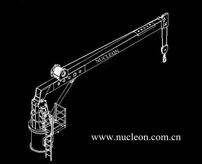Hydraulic Marine Deck Boat Lifting Cranes From Xinxiang Nucleon Crane