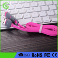 Fast quick speed 1m Braided charge Wire noodle flat Micro USB Cable for android phone