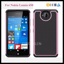 2 in 1 pc silicone hybrid combo rugged shockproof case for Nokia Lumia 650 football textures back cover