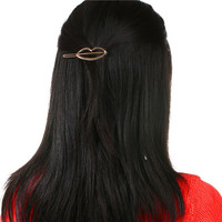 Hair Accessories Lip Gold Plated Different Types Girls Hair Clips For Women