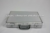 All aluminum briefcase hard case with laptop belt