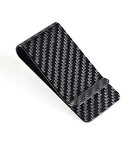 High quality custom printing logo carbon fibre money clip