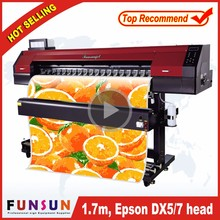 Top sales Funsunjet FS1700M 1.7m second hand printing machine with DX5 head for outdoor advertising