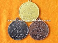 gold silver copper plated sports medal