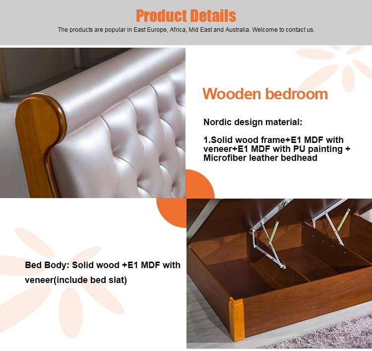 Modern wood double bed designs with box view wood double for Wooden attic box bed