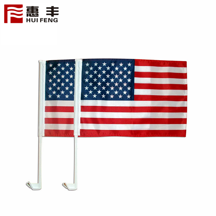 Printed Car / Hand Flag With Pole For Election Campaign