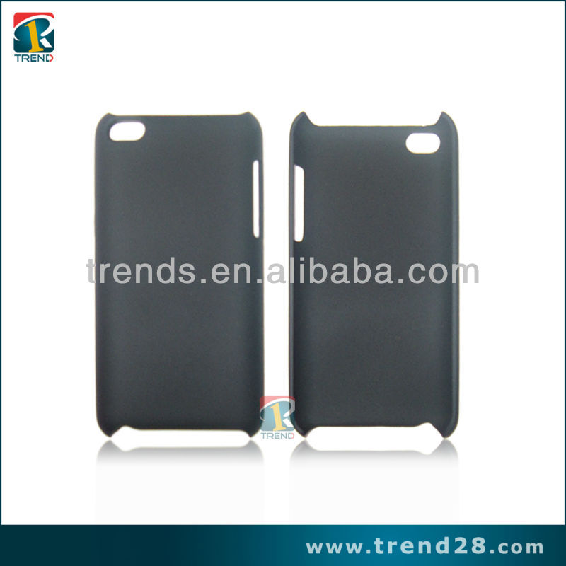 High quality rubberized pc hard cover case for ipod touch 4