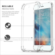 Hybrid Rubber Shockproof TPU Clear Back Cover Case For Apple iPhone 7 plus