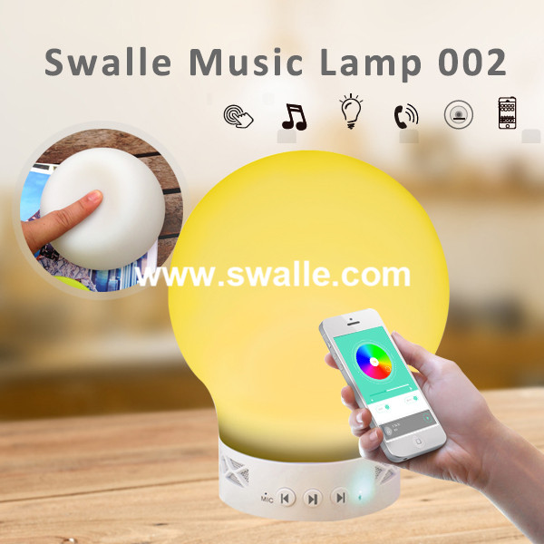 Hot Selling 2016 Bluetooth 4.0 Emotional Speaker Lamp Touch Sensor LED lamp outdoor bluetooth speaker