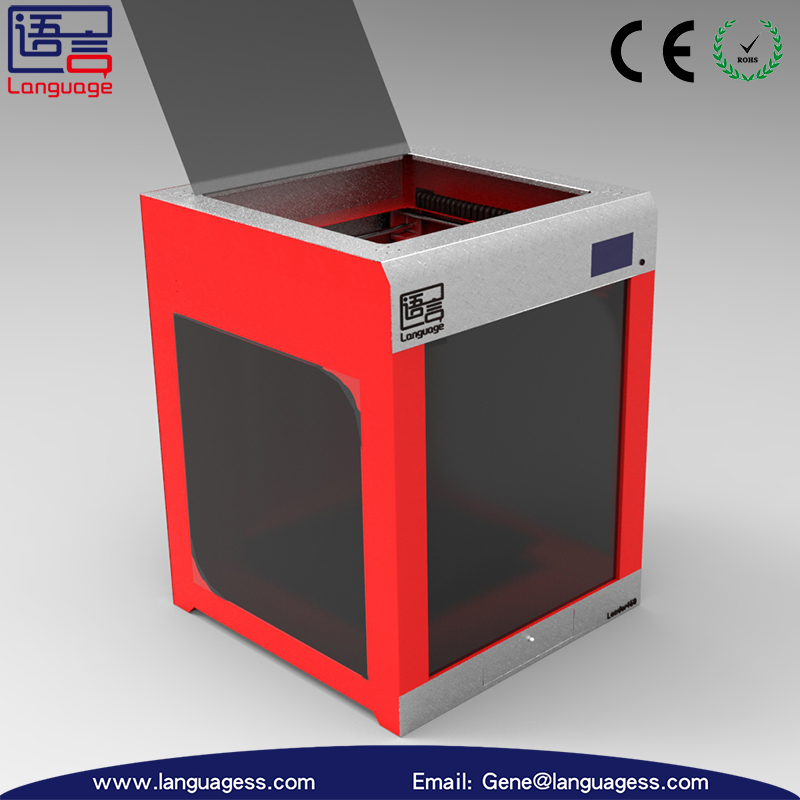large build volume 3d printer 400*400*500 mm language 3d printer