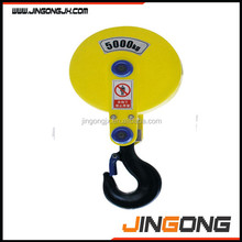 High quality 2t for material lifting traveling block hook
