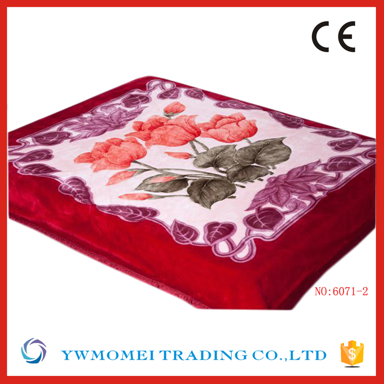 Rhz108-2 Cheap wholesale new flower design mora custom mink blanket