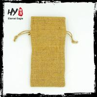Brand new burlap fabric christmas gift pouch with logo