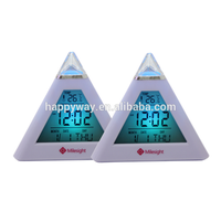 Pyramid Digital Table Clock, MOQ 100 PCS 0801137 One Year Quality Warranty
