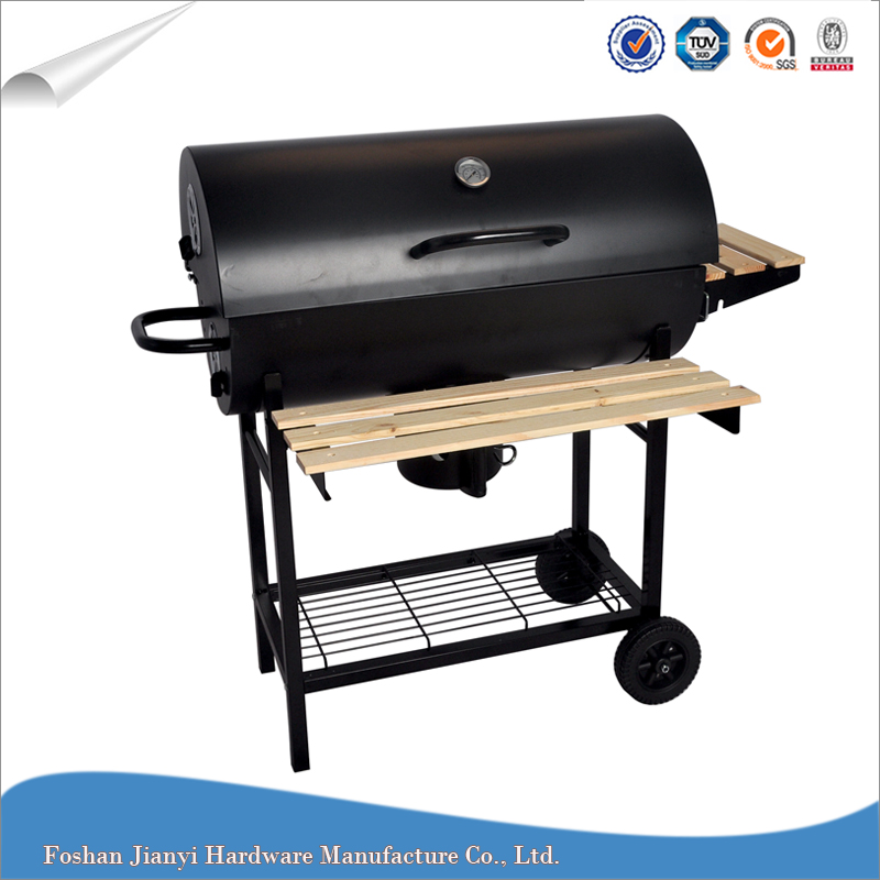 Camping Trolley Charcoal Korean Barrel bbq Grill Table