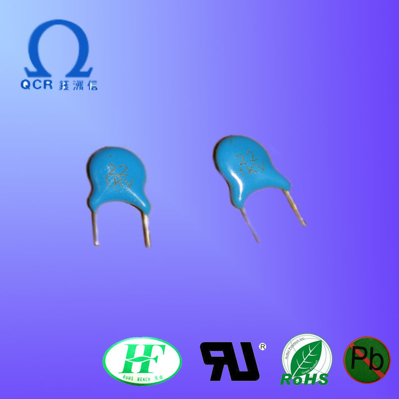 QCR 22PF/1KV High voltage ceramic capacitors