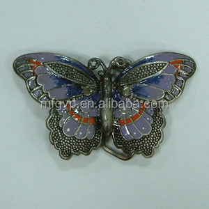 fashion design butterfly two pieces make metal belt buckles
