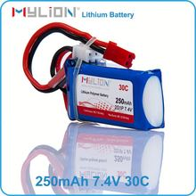 high c rate 30c Max 60c 2S 7.4v 250mah rc lipo battery