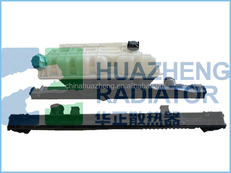 Aluminum plastic tanks for heavy duty truck Man-TGA radiator