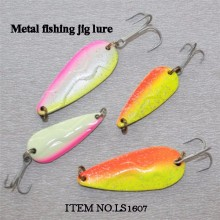lead metal jig head lure artificial fishing spoon lures