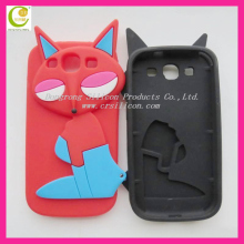 Any custom color 3d silicon animal case for samsung i9300/galaxy s3
