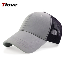 High Quality Baseball Mesh Cap in Ottoman and Polyester Mash, back with plastic snap button 7725