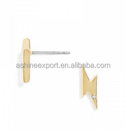Fashion Rhinestones Pave Wish Bone Stud Earring