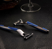 M3 Compatible Triple blades system Metal handle shaving razor with replaceable blades Compatible Gillettes