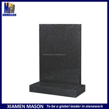 Absolute black galaxy granite square shaped headstones