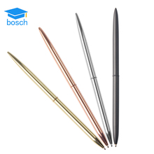 Amazon top selling golden cross metal Plating Rotation logo pen gold cheap ballpoint pen