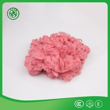 Good quality green color doped dyed polyester staple fiber for spnning yarn