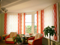 modern style of curved vertical blinds and shades wholesale from China