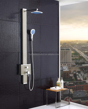 Stainless Steel Rainfall Shower Panel Rain Massage System Faucet with Jets & Hand Shower