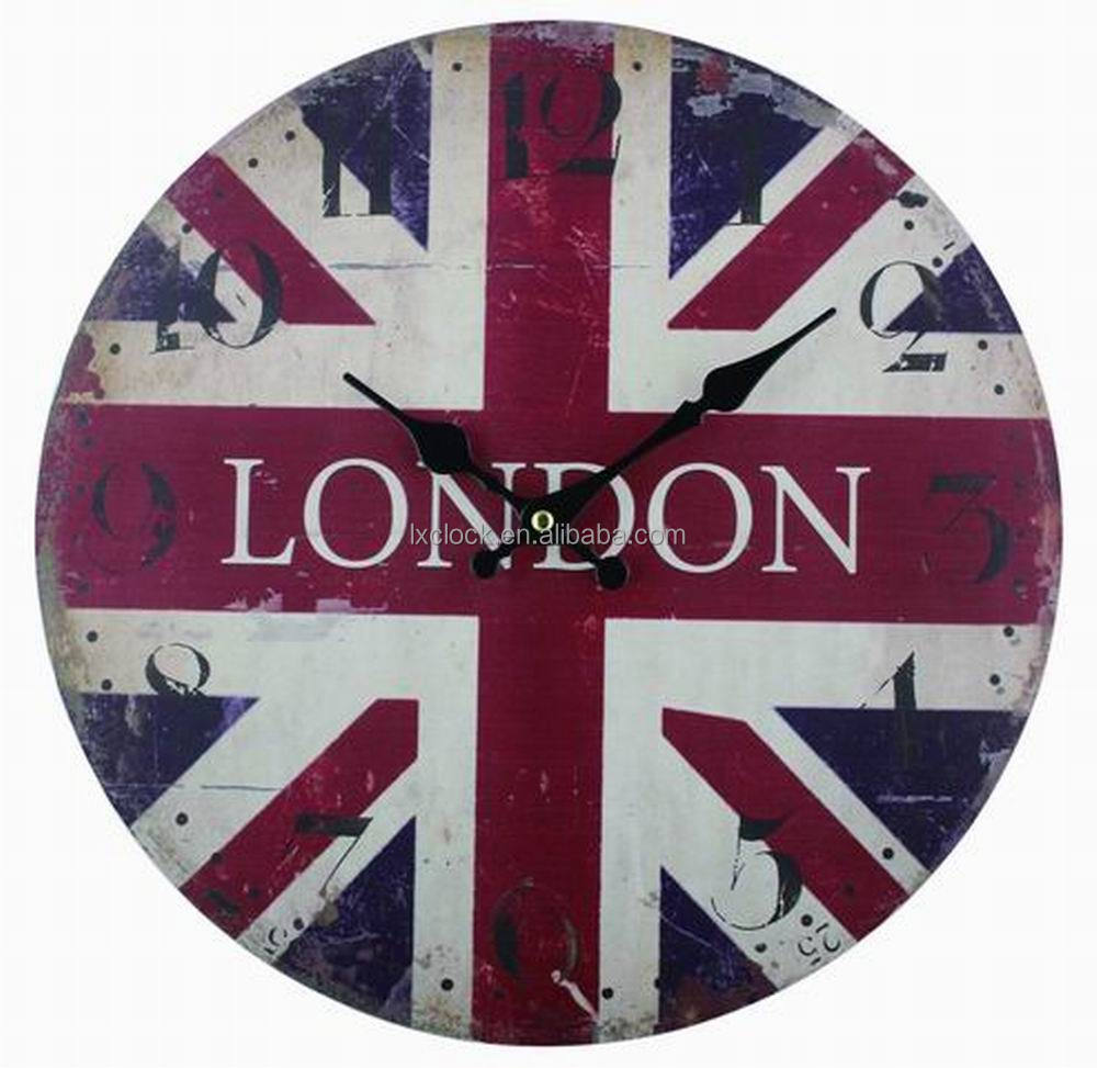 MDF Wal Clock London Symbol Design Clock