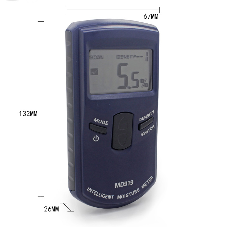 Super large LCD display electronic moisture meter instrument to measure <strong>paper</strong> and air humidity clear moisture reader MD919