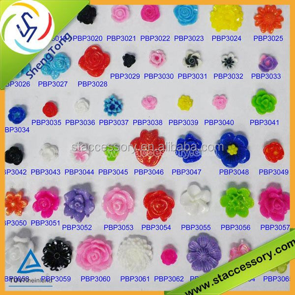DIY resin flower bead or sticker opal cabochon