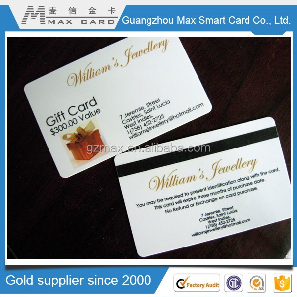 shopping mall gift promotion market card
