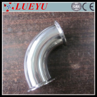 "Popular products SANITARY STAINLESS STEEL ELBOW FITTING 1.5"" 1-1/2"" PIPE SIZE 2"" OD FLANGE 90 CE/ISO"