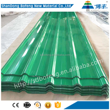 Popular fashionable corrugated roofing color coated steel metal sheet