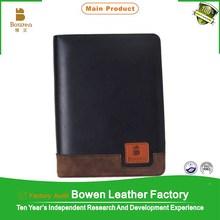 Bowen BWB- 34 black A5 personalized leather 6 ring binder notebook covers