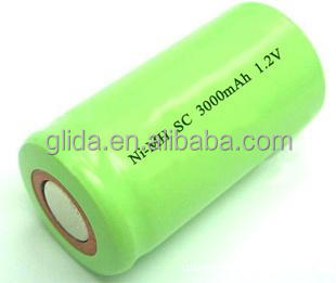 2016 New arrival NiMH Sub C SC 1500mAh 1.2V Battery Manufacturer with CE,ROHS,UL certificates