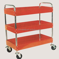 3 Trays Metal Service Cart With
