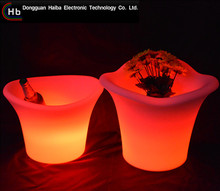 from china factory Led Plastic Flower Pot For Garden products /wooden flower pot