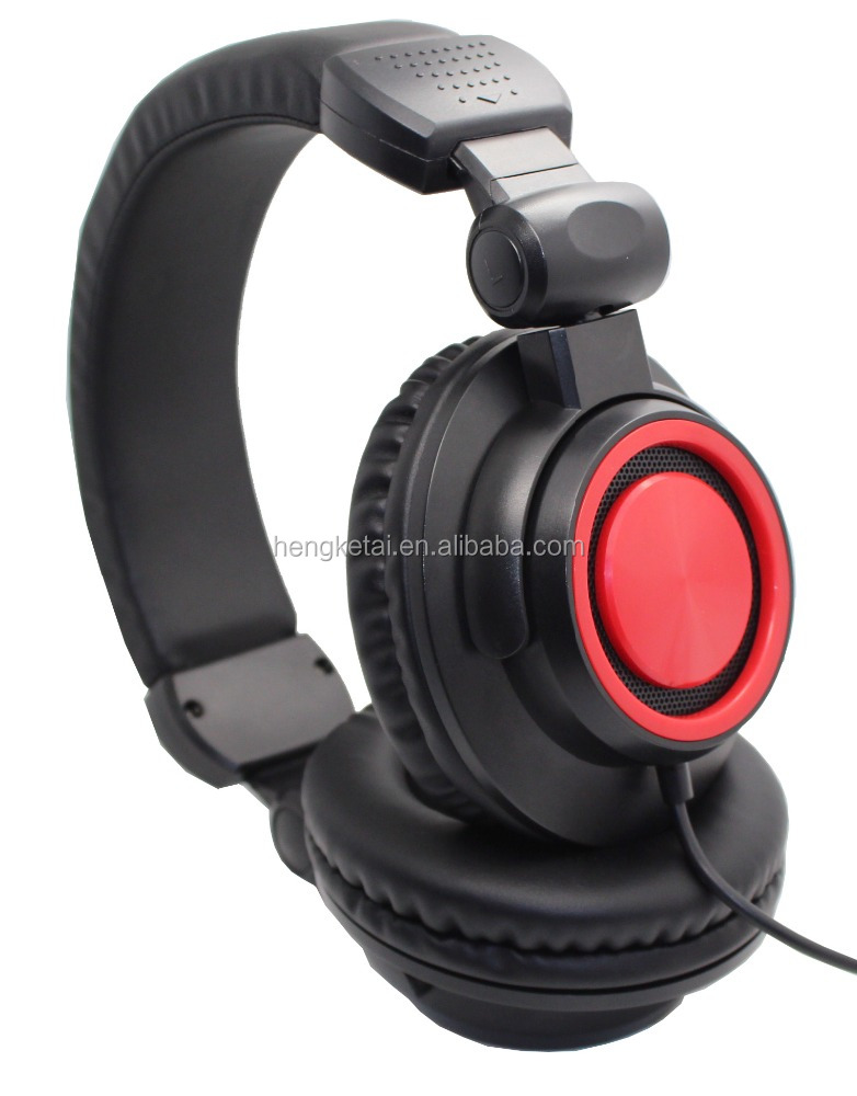 Noise reducing wired headphones stereo DJ headphones computer headphones
