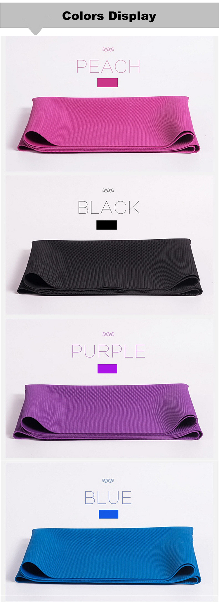 Perfectly thick 1.5mm portable yoga mat rubber