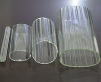 clear transparent high borosilicate glass tubing glass tube glass pipe of inner stripe