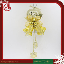 Christmas Tree Hanging Bell With Apple Shape Star Pendant For Door Decoration China Wholesales