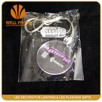 Factory price Logo customized light up christmas light led necklace flashing