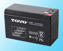 TOYOAGM Rechargeable vrl 20HR lead acid 12v 7ah UPS battery