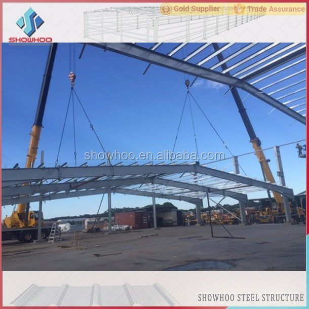 Large span steel structure industrial hall building function hall design